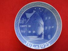 """1925 Royal Copenhagen Rc Christmas Plate """" Street at Christianshavn"""" """""""