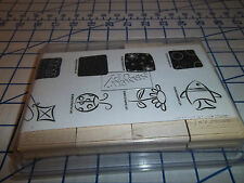 Stampin' Up  Little Layers  Set of 8 New Unmounted Fish Kite Ladybug Flower 2003