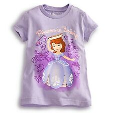 """DISNEY STORE SOFIA """"PRINCESS IN TRAINING"""" TEE NWT GIRLS SIZE 5/6 GLITTER ACCENTS"""