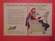 1957 Reader's Digest 2-page Borden ad w/Elsie & Elmer