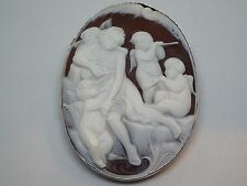 Master Hand carved cameo artist signed, Fresia from Torre del Greco, Italy