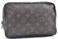 Auth Louis Vuitton Monogram Trousse Toilette 23 Clutch Hand Bag M47524 LV B4927