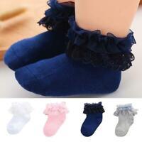 Baby Cotton Socks Lace Princess Combed Cotton Socks Girls Infant Babe Socks