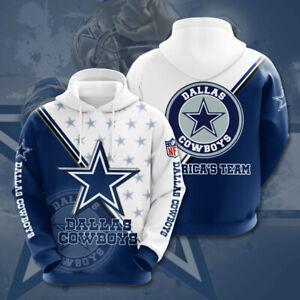 Dallas Cowboys Fans Hoodies Unisex Pullover Hooded Sweatshirt Casual Jacket