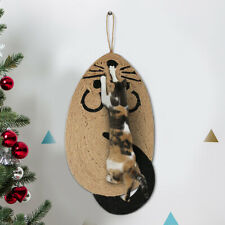 Pet Cat Kitten Scratcher Claw Board Sisal Scratching Post Pad Mat Wall Hanging