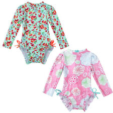 Baby Girls Rash Guard Swimsuit Swimwear Sun Protection Bathing Beach Costume