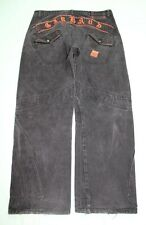 Marithe Francois Girbaud Mens Baggy Distressed Jeans 40x33(38) Black GUC #13934