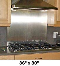 Stainless Steel Backsplash w/ Hemmed Edges Kitchen Hood Range Stove Tile 36x30in