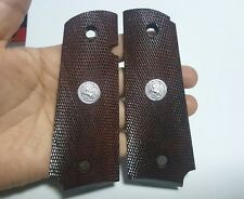 NEW 1911 ALL CHECKERED PATTERN HARD WOOD GRIPS KIMBER COLT  1911 FULL SIZE