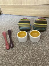 New Without Box - Joules Egg Cup Holders, Spoons & Egg Warmers