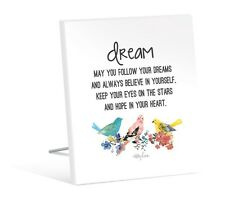 Kelly Lane Inspirational Follow Your Dreams Plaque | Free Standing | Gift Idea
