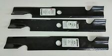 """Qty-3 18"""" Stens 355-291 Notched Air-Lift Blades for 52"""" Deck, Exmark, Toro"""