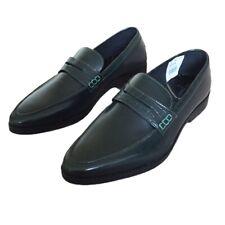 Zapatos de cuero para hombre honrado Londres UK 6 Verde Caqui Slip On Formal de Fiesta Nuevo £ 75