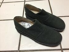 NEW Pied A Terre Karma Espadrilles Green Wool Loafers Sz 36 US 6