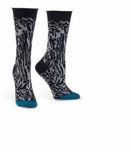 HUE Womens Jeans Socks Espresso Animal Print Black 1 Pair - NWT