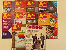 Vintage : lot de magazines A+ Incider Apple II IIGS Macintosh en anglais