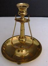 Vintage BRASS Candle Stick Holder w/ Handle & the Candle Holder MOVE India