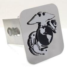"""US Marine Corps Insignia Logo Chrome Tow 2"""" Receiver Hitch Cover Plug"""