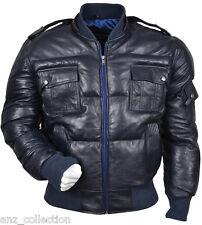 Cappotti e giacche da uomo Bomber, Harrington blu con cappuccio