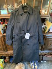 DSCP Army Military Issue Black All-Weather Trench Coat NWT 40 R