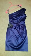 Dresses one sholder knee length fitted purple eggplant special occasion