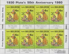 Malediven 971 Kleinbogen (kompl.Ausg.) postfrisch 1982 Walt-Disney-Figur Pluto