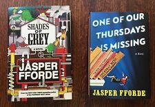 Lot of 2 Jasper Fforde bks 1st/1st's Shades Of Grey Signed One of Our Thursdays