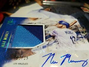 RARE MAX MUNCY 2 COLOR AUTO PANINI DIAMOND KINGS PATCH BLUE HOLOGRAM NON ROOKIE!