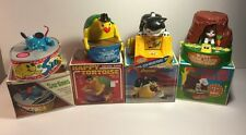 4 Vintage Everlast Cute Animals Wind Up Toys Coin Banks Collectible Children Fun