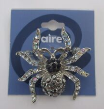 bD Spider Halloween sparkle claire's jewelry BROOCH PIN