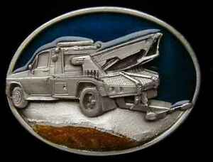 TOW TRUCK TOWING BELT BUCKLE NICE DETAILS NEW!