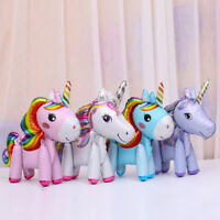 3D Unicorn Rainbow Standing Foil Balloon Kids Toy Wedding Party Decor Supplies