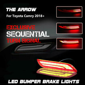 for Toyota Camry 2018-2020 LED Bumper Brake Lights w/ Sequential Turn Signal Kit