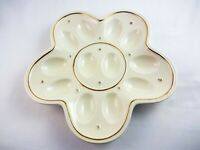 Lenox Egg Platter Deviled Egg Dish Gold Trim Ivory China Easter Hostess Gift
