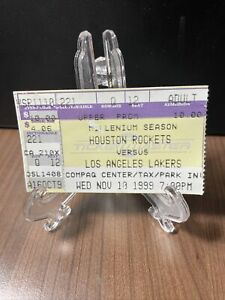 HOUSTON ROCKETS VS LOS ANGELES LAKERS TICKET STUB NOVEMBER 10 1999