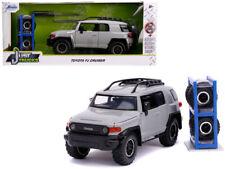 1/24 Jada JUST TRUCKS Toyota FJ Cruiser with Extra Wheels Diecast Grey 31557