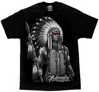 Authentic David Gonzales Dga Warrior Native American Indian Mens T Shirt M-4Xl