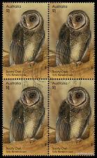2016 Sooty Owl Tyto Tenebricosa Block Fine Used Stamps Australia
