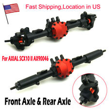 Complete Alloy Front & Rear Axle for AXIAL SCX10 II AX90046 1/10 RC Crawler US