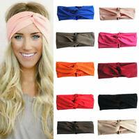 Twist Knot Headband Elastic Wrap Turban Hair Band Hairband Sports