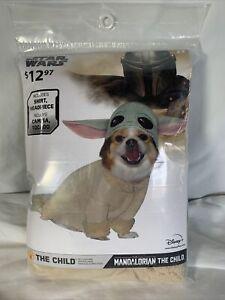 Disney BABY YODA Star Wars The Child Mandalorian Pet Dog Costume - Size Large