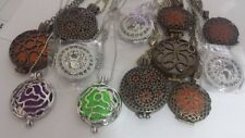Wholesale lot of 12 Essential Oil Necklace Necklaces Diffuser Jewelry 12 Pads
