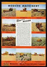 1946 Minneapolis Moline farm tractor plow harvester 10 photo vintage print ad