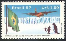 Brazil 1987 Antarctic/Penguins/Plane/Aircraft/Birds/Nature/Transport 1v (n26643)