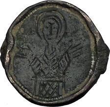 VIRGIN MARY Orans Jesus Christ Mom Byzantine Medieval Christian Pendant i45096