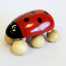 Ladybird  ✋ Hand Held Wooden Massager ✔️ Brand New ✉ Free P&P