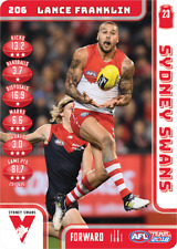 2018 AFL TEAMCOACH FULL SET OF COMMONS SYDNEY SWANS 12 CARDS 23/03/2018