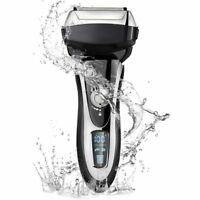 Pro Men Shaver Rechargeable Electric Razor Wet & Dry For Men Beard Trimmer LCD