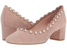 6c2d1bfdb3e1 Kate Spade New York Maeve Kid Suede Pearl Pump Heel Fawn 7.5 New  278