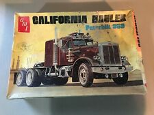 VINTAGE 1/25 SCALE AMT CALIFORNIA HAULER PETERBILT 359 JUNKYARD MODEL KIT